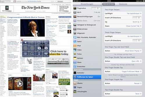 FullScreen for Safari iPad