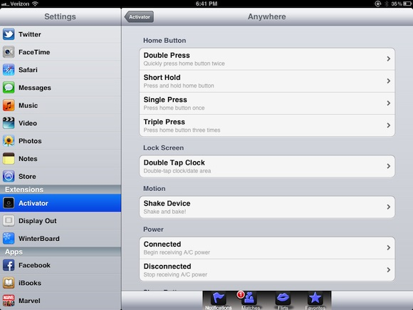 Activator Cydia apps