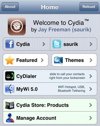 iPhone Cydia