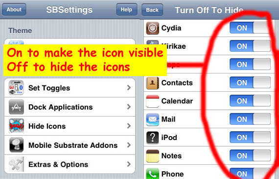 How to use app hider