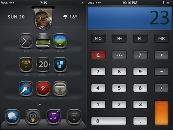 Boss iOS cydia theme