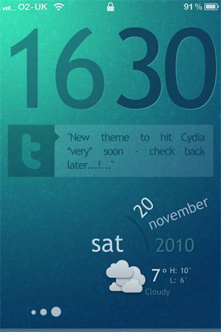 Sublime Lock HD theme