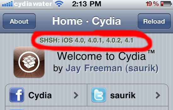 Download TinyUmbrella to Save SHSH Blobs from Cydia - Cydia