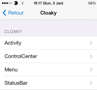 Cloaky Cydia Tweak