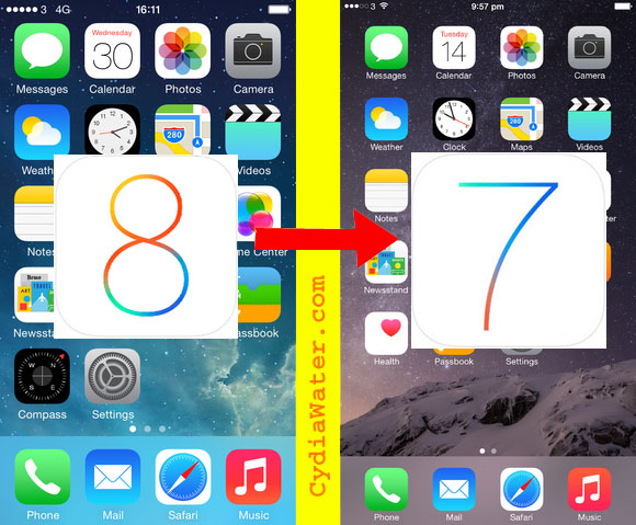 downgrade iOS 8 to iOS 7