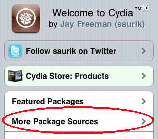 default Cydia repos