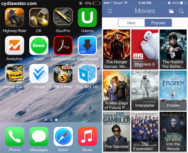 apps to download free movies ios