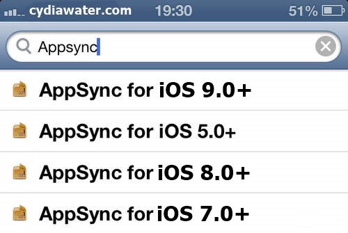 AppSync iOS 9 Repo on iPhone, iPad and iPod Touch - Cydia