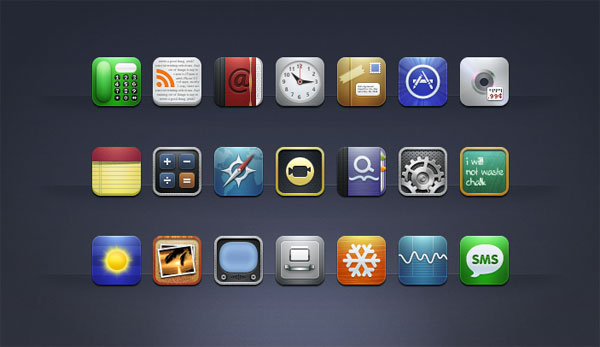Winterboard theme Matte Nano HD