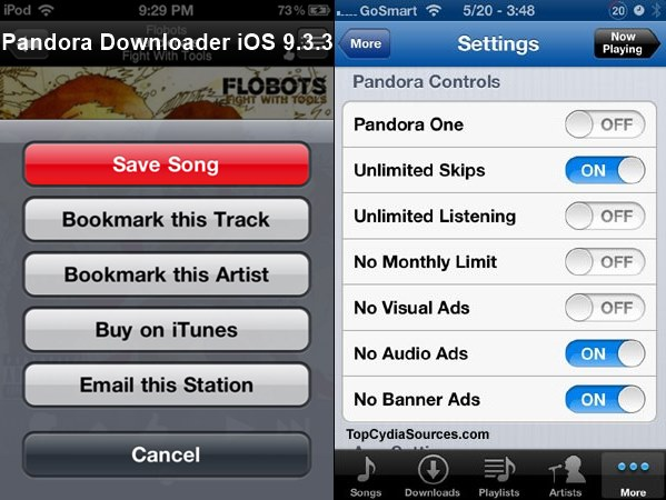 Pandora Downloader iphone ipad ipod touch mac pc windows android